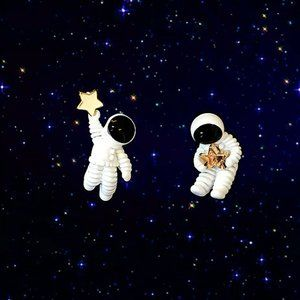 NWOT Cute Whimsical Look To The Stars Earr…